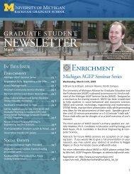 2009 march.indd - Rackham Graduate School - University of Michigan