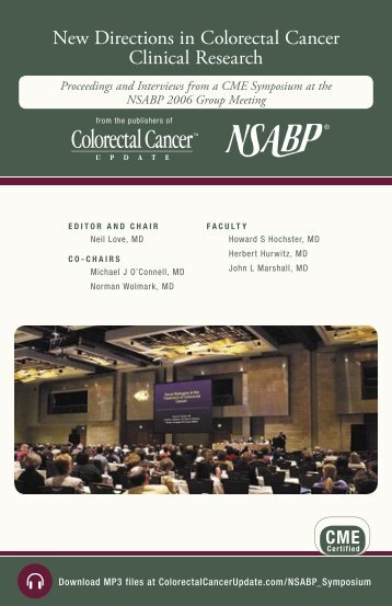 New Directions in Colorectal Cancer Clinical Research