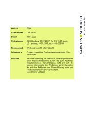 BGH I ZR 140/07 Versandkosten bei Froogle - Karsten + Schubert