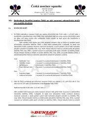 Příloha zápisu č.002 - Nadřazenosti při nasazování hráčů do soutěží