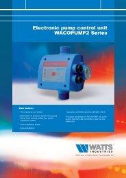 Electronic pump control unit WACOPUMP2 Series - Watts Industries