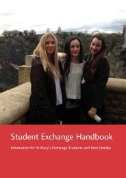 Download Exchange Handbook - St Mary's Anglican Girls' School