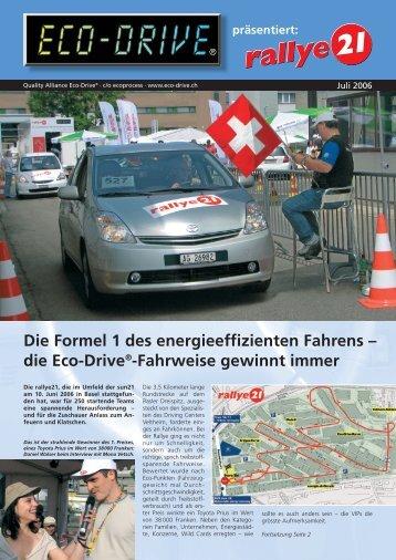 Eco-Drive-Sonderausgabe zur rallye21 d, Juli 2006