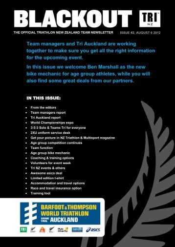 Team Newsletter #2 - Triathlon New Zealand