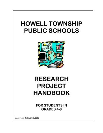 howell township public schools research project handbook for ...
