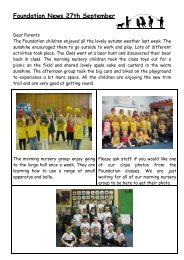 Foundation News 27th September - Gusford Primary School