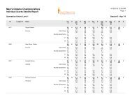 2013 Men's Ontario Championships Detailed Results – Rose City