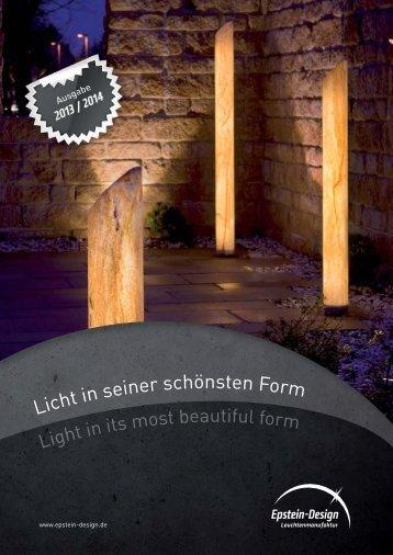 Katalog 2013/14 Teil 1 - Epstein-Design Leuchtenmanufaktur