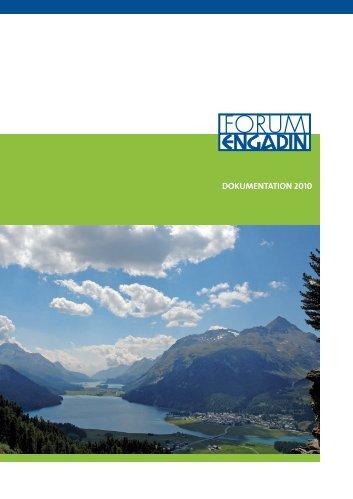Jahresbericht 2010 - FORUM ENGADIN