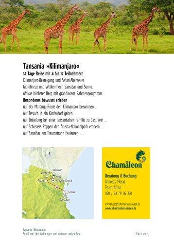 Tansania »kilimanjaro«