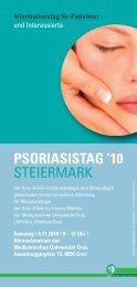 Psoriasistag 2010 - Medizinische Universität Graz