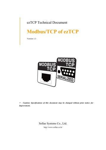 Modbus/TCP Protocol - Sollae Systems
