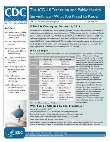 The ICD-10 Transition and Public Health Surveillance - International ...