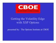 Getting the Volatility Edge with XSP Options - CBOE.com