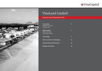 VNL Q3 2012 report - VinaCapital