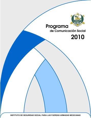 Programa de Comunicación Social 2010. - Issfam