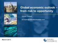 Global Economic Outlook - From Risk To Opportunity - Mar 2013