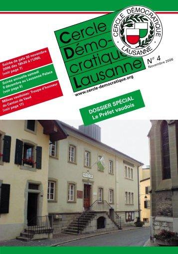 Bulletin no. 4/06 – Novembre 2006 - Cercle Démocratique Lausanne
