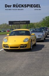 Volume 38 Issue 6, June 2011 - Maumee Valley - Porsche Club of ...