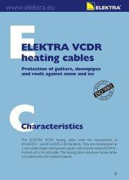 ELEKTRA VCDR heating cables - Trotus Grup SRL