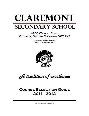 Grade 12 - Claremont Secondary School