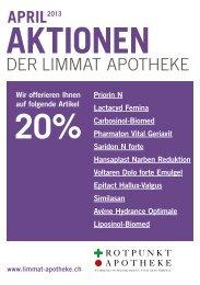 20%-AKTIONEN der Limmat Apotheke - Die Limmat Apotheke in ...