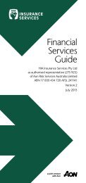 Financial Services Guide - HIA Insurance Services