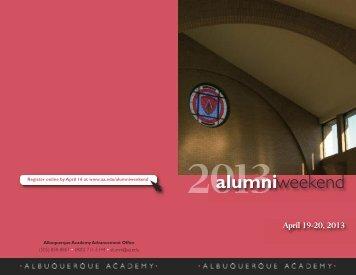 2013 Brochure - Albuquerque Academy