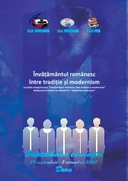 Învă ământul românesc între tradi ie și modernism - SIP Hunedoara