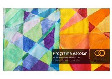 Programa escolar - Deutsche Schule Las Palmas de Gran Canaria