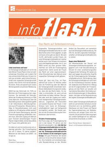 infoflash - Frauenzentrale Zug