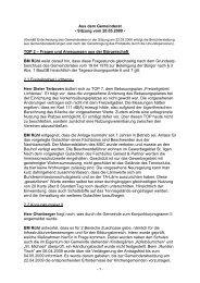 Protokoll vom 20.Mai.2009 - Nußloch