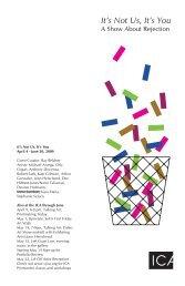 Exhibition Guide - San Jose Institute of Contemporary Art