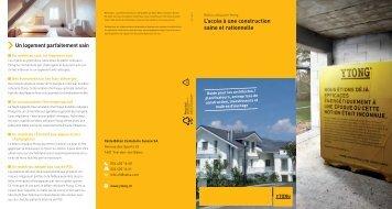 L'accès à une construction saine et rationnelle Un logement ... - Ytong