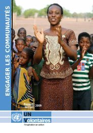 Rapport annuel - version intégrale - United Nations Volunteers