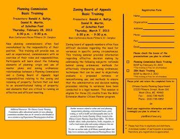 Planning Commission Basic Training Zoning Board ... - Ottawa County