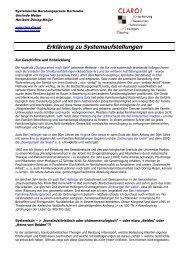 Erklärung zu Systemaufstellungen - Claro Karlsruhe