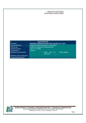 Auditoria Externa de Gestión y Resultados Parte Nro. 1 ... - Chec