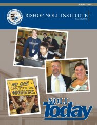 JANUARY 2009 - Bishop Noll Institute