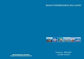 Annual Report 2008-2009 - Bharat Petroleum