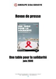 Revue de presse 2009 - Groupe sida Genève