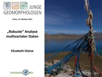 Keynote-Vortrag von E. Dietze