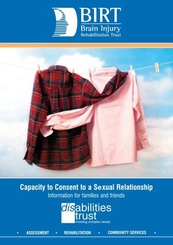 Capacity to Consent to a Sexual Relationship - The Disabilities Trust