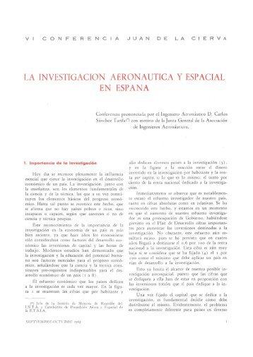 14. La investigación aeronáutica y espacial en España. VI ... - Aerobib