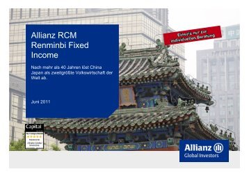 Allianz RCM Renminbi Fixed Income - Buescher-stehr.de
