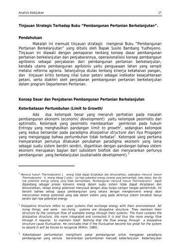 Bab-II Fin - Pusat Sosial Ekonomi dan Kebijakan Pertanian ...