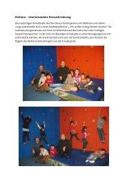 Klettern – eine besondere Herausforderung - Zum Kindergarten Don ...