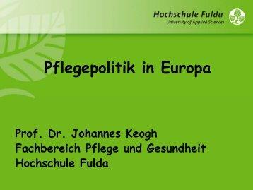 Pflegepolitik in Europa - Berlin Brandenburger Pflegetage