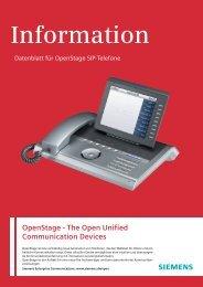OpenStage SIP-Telefone Datenblatt Deutsch - IPCom.ch