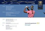Veranstaltungskalender 2012 Damengolf - Golfclub Schloss ...